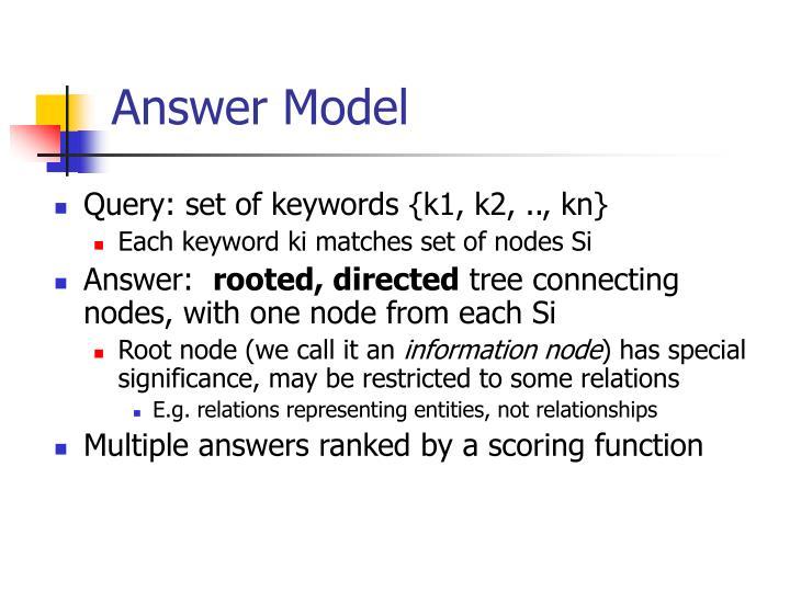 Answer Model
