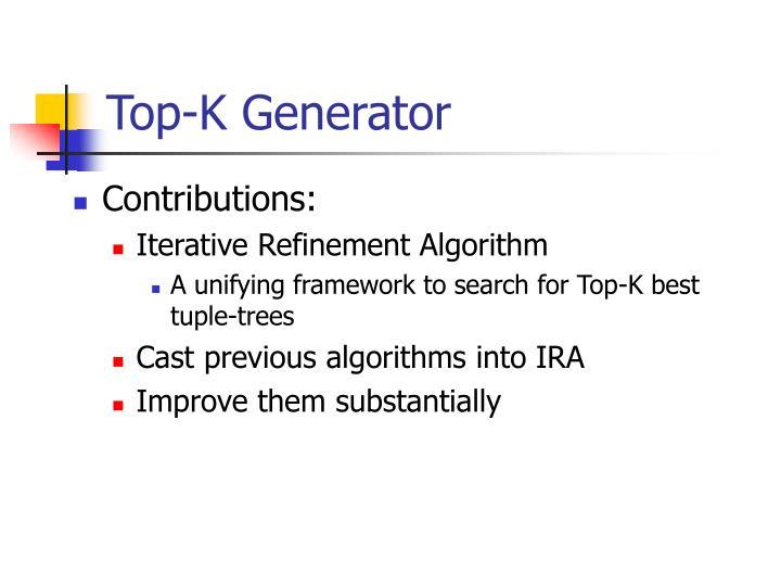 Top-K Generator