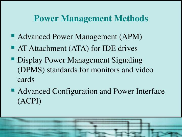 Power Management Methods