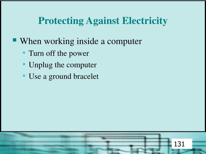 Protecting Against Electricity