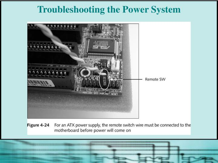 Troubleshooting the Power System