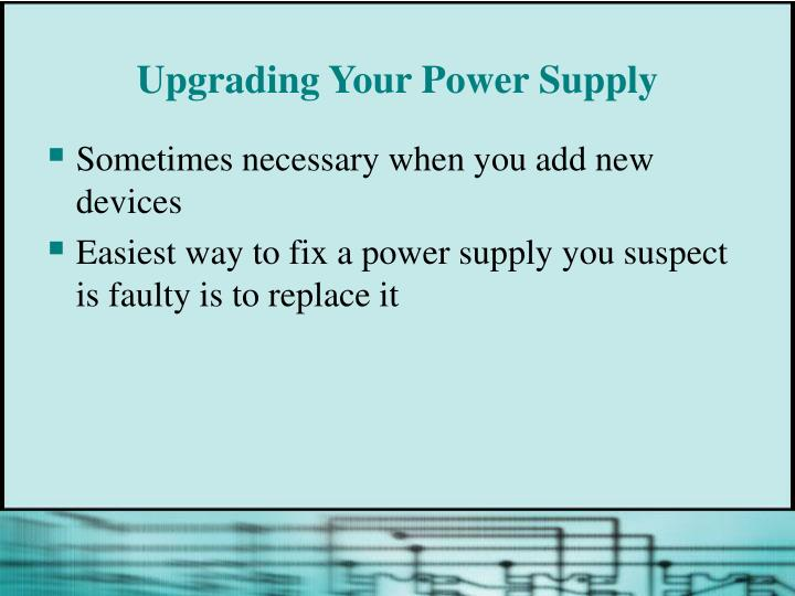 Upgrading Your Power Supply