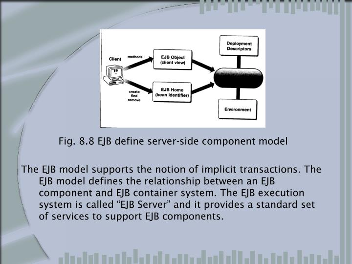 Fig. 8.8 EJB define server-side component model