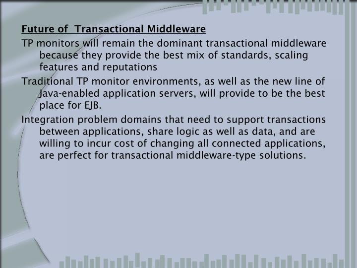Future of  Transactional Middleware