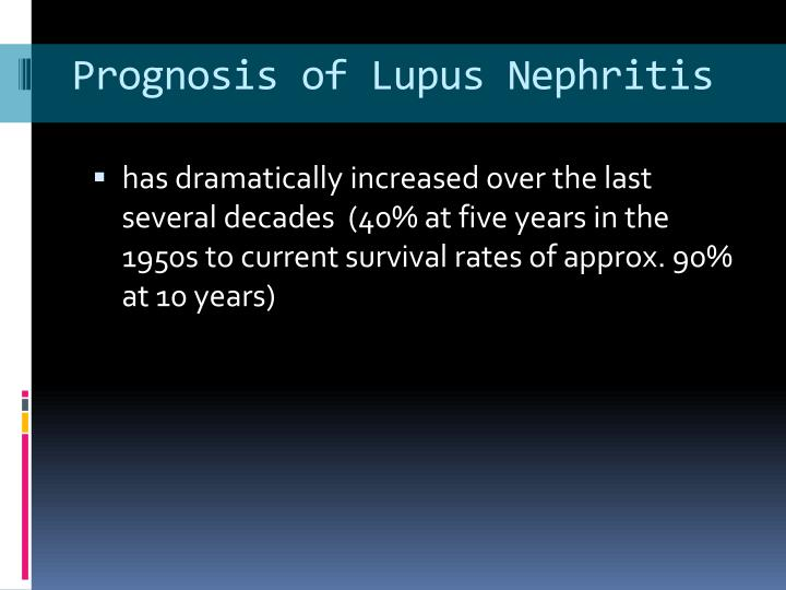 Prognosis of Lupus Nephritis