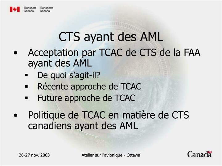 Cts ayant des aml