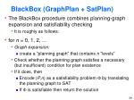 blackbox graphplan satplan