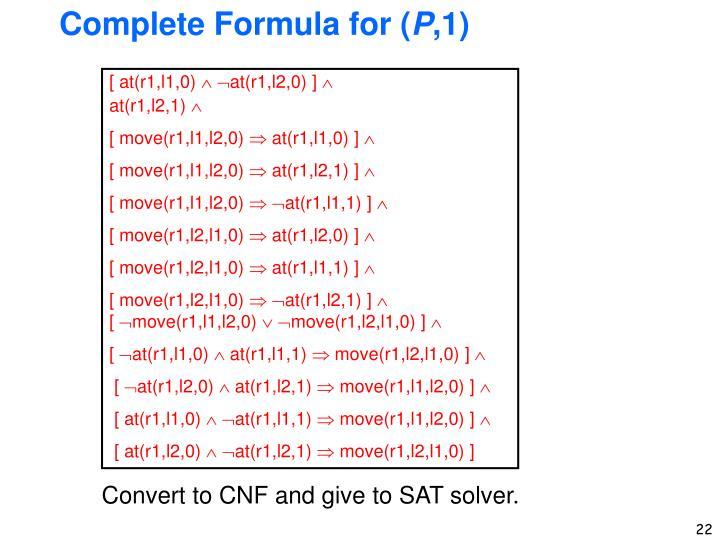 Complete Formula for (