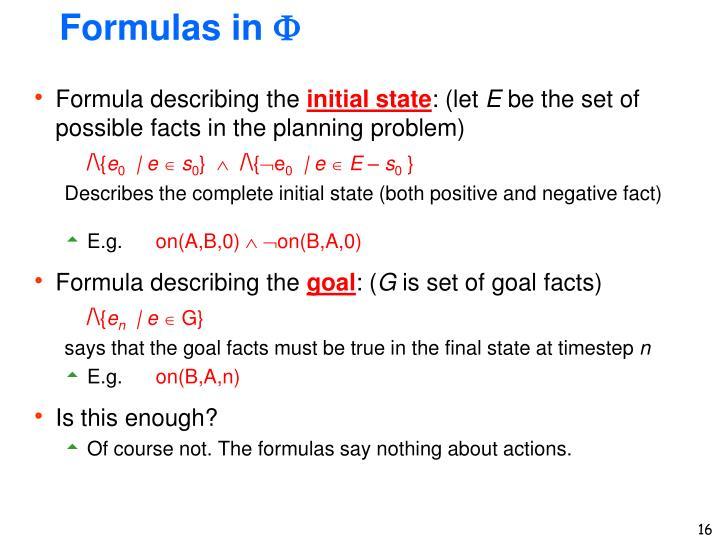 Formulas in