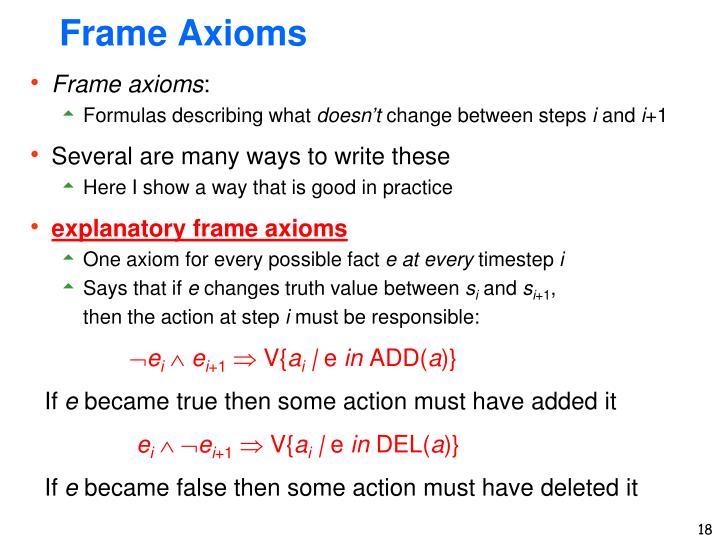 Frame Axioms