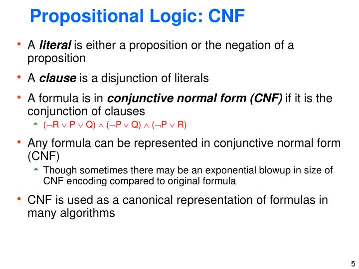 Propositional Logic: CNF