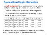 propositional logic semantics