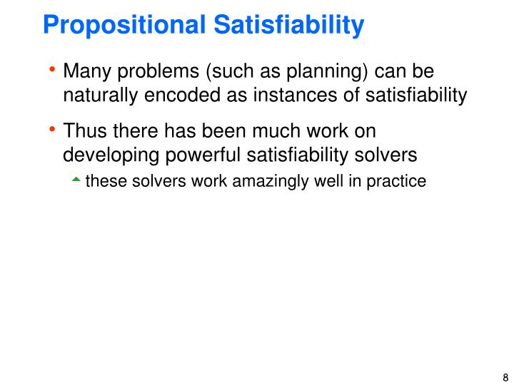Propositional Satisfiability