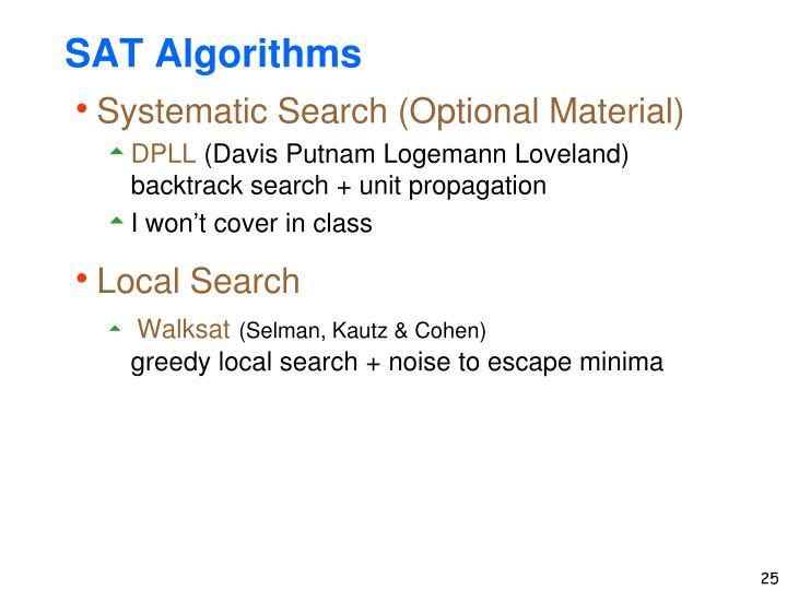 SAT Algorithms