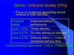 define critical to quality ctq