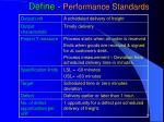 define performance standards