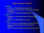 key lessons learnt1