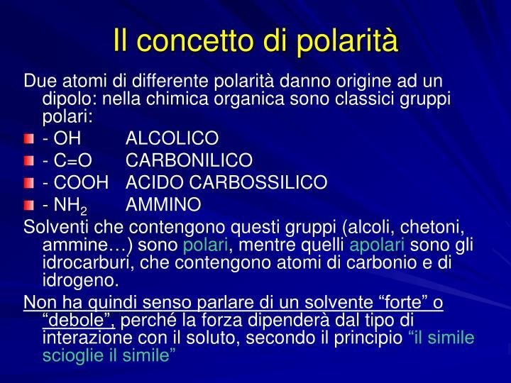 Il concetto di polarità
