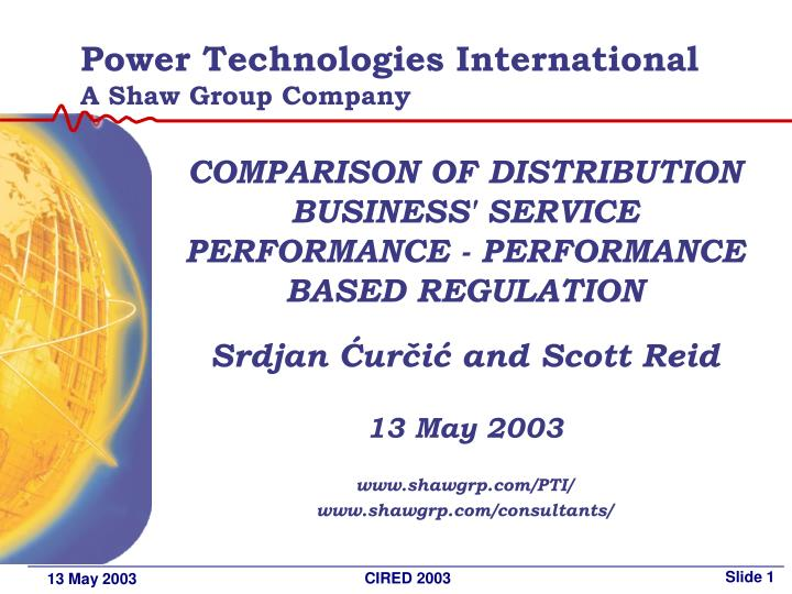 Power technologies international a shaw group company
