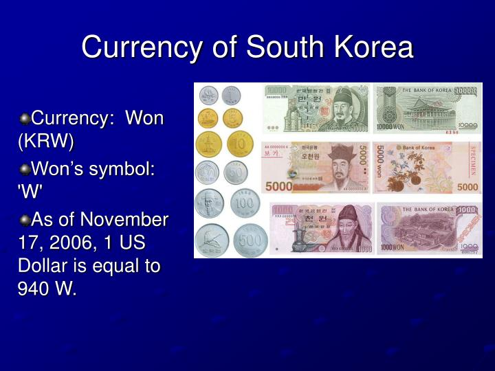 Currency of South Korea