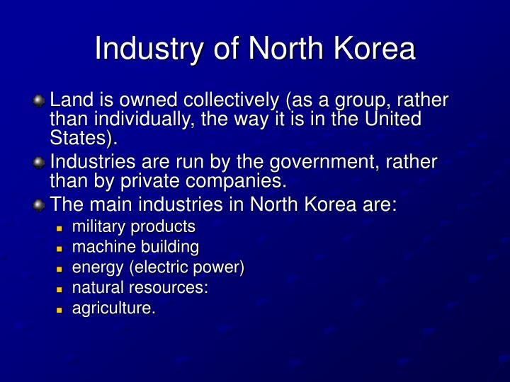 Industry of North Korea