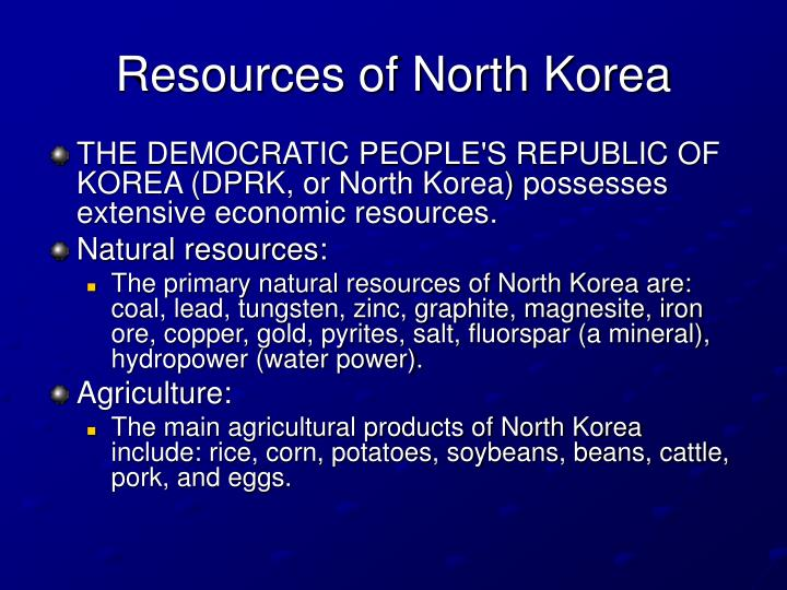 Resources of North Korea
