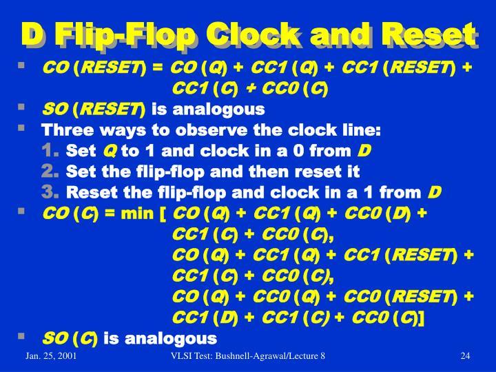 D Flip-Flop Clock and Reset