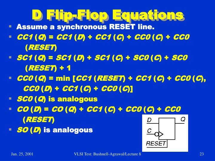 D Flip-Flop Equations