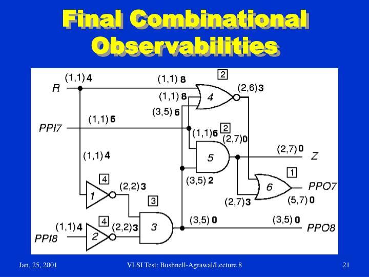 Final Combinational Observabilities