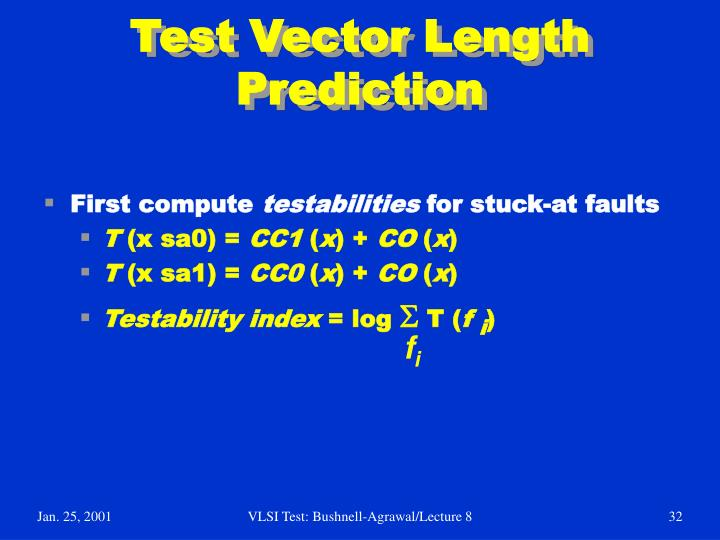Test Vector Length Prediction