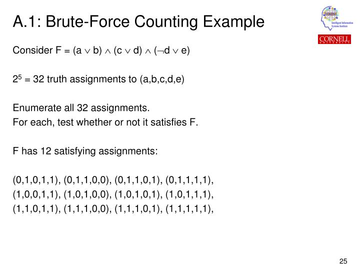 A.1: Brute-Force Counting Example