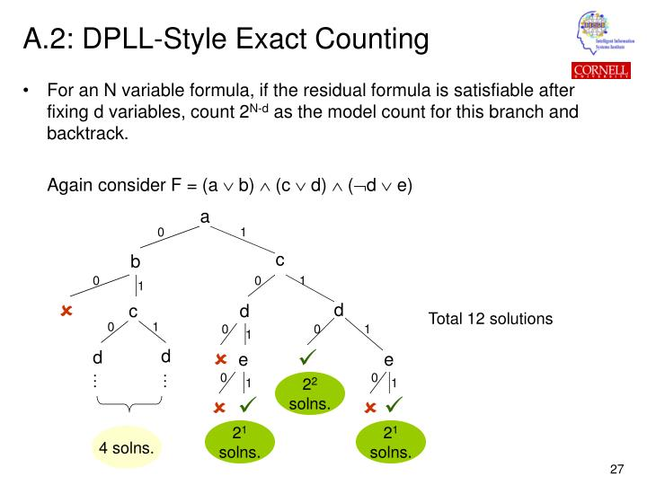 A.2: DPLL-Style Exact Counting