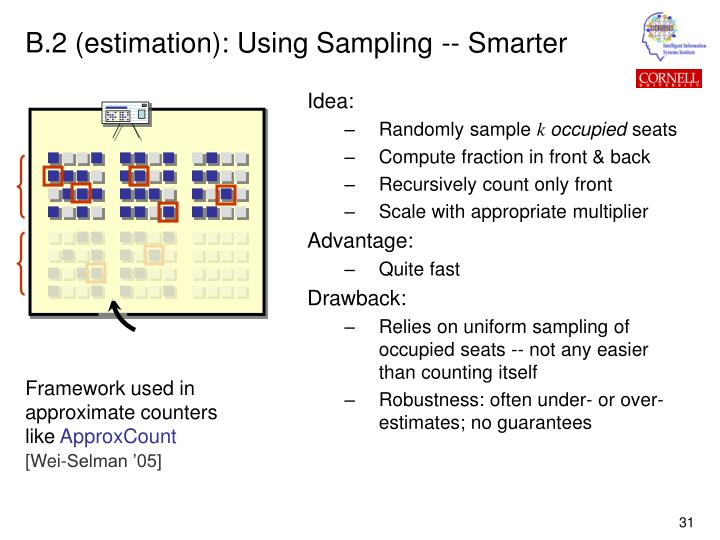 B.2 (estimation): Using Sampling -- Smarter