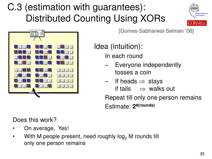 C.3 (estimation with guarantees):