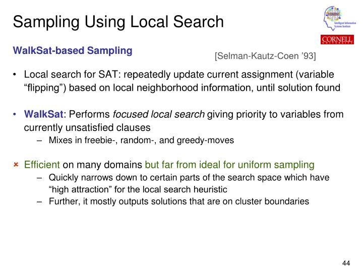 Sampling Using Local Search