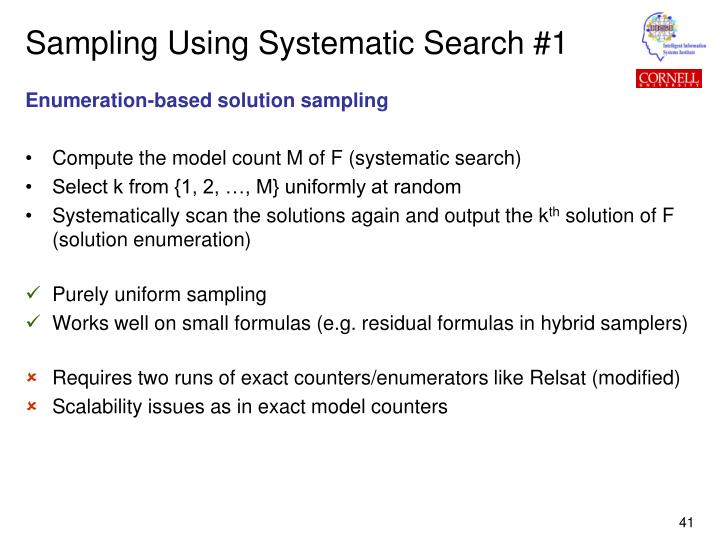 Sampling Using Systematic Search #1