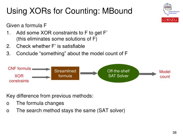 Using XORs for Counting: MBound