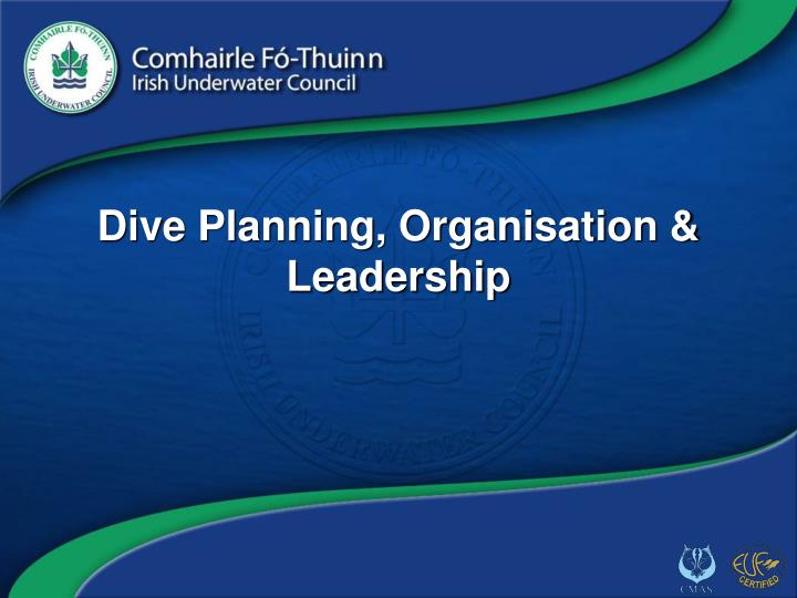 Dive planning organisation leadership