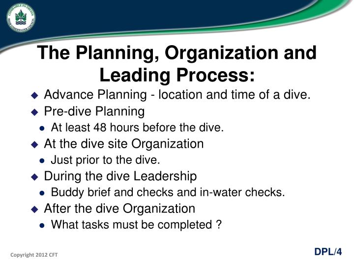 The Planning, Organization and Leading Process: