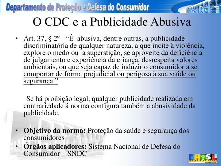 O CDC e a Publicidade Abusiva