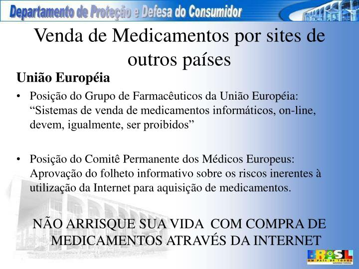 Venda de Medicamentos por sites de outros países