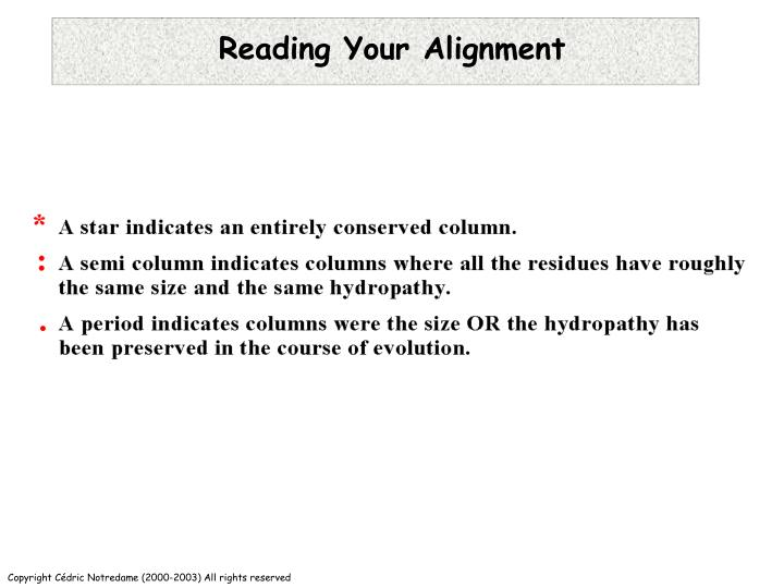 Reading Your Alignment