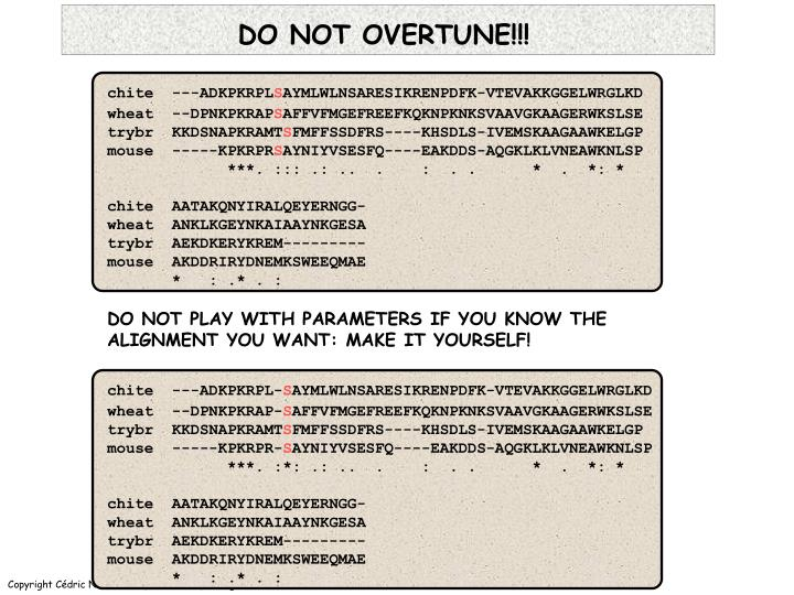 DO NOT OVERTUNE!!!