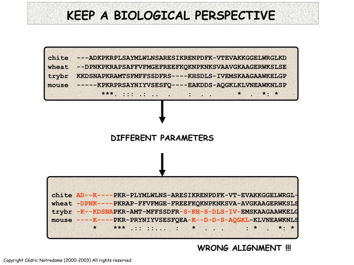KEEP A BIOLOGICAL PERSPECTIVE