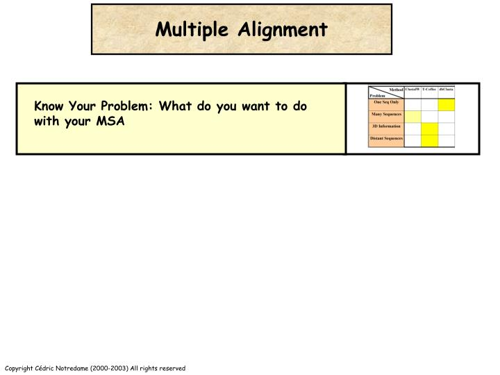 Multiple Alignment