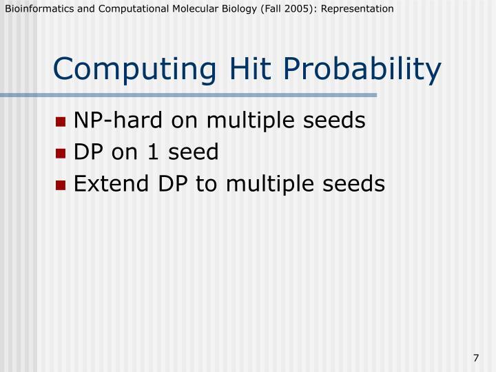 Computing Hit Probability