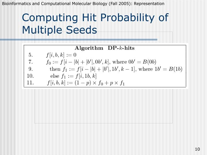 Computing Hit Probability of Multiple Seeds