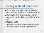 finding a good seed set1