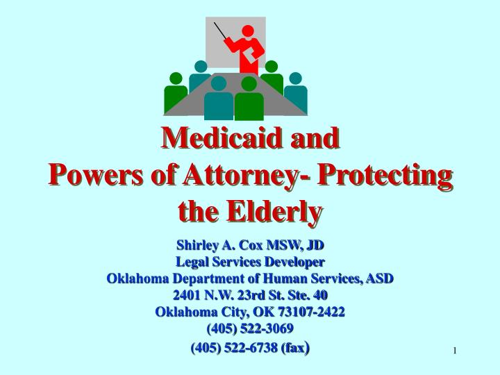 medicaid and powers of attorney protecting the elderly