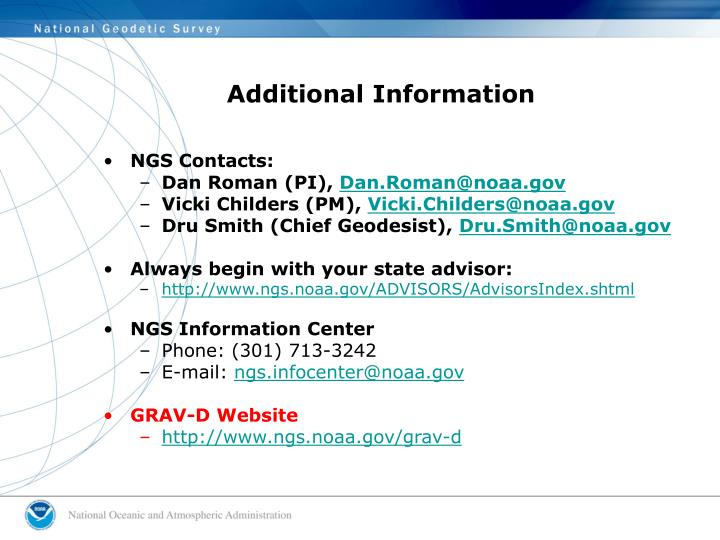 NGS Contacts: